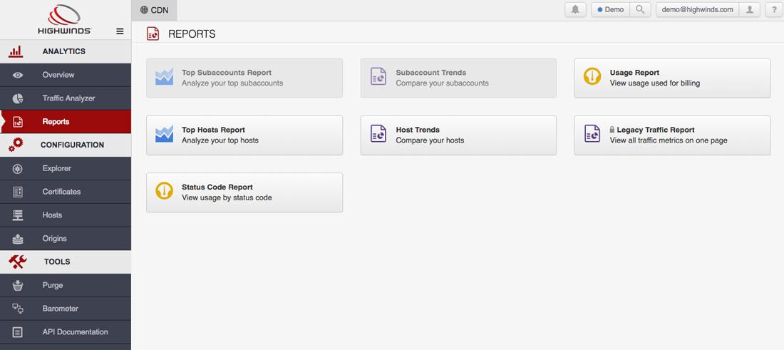 Analytics - Reports
